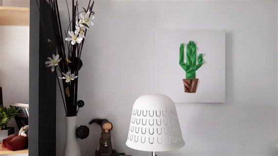 DIY : Papercraft pour créer un tableau cactus en papier