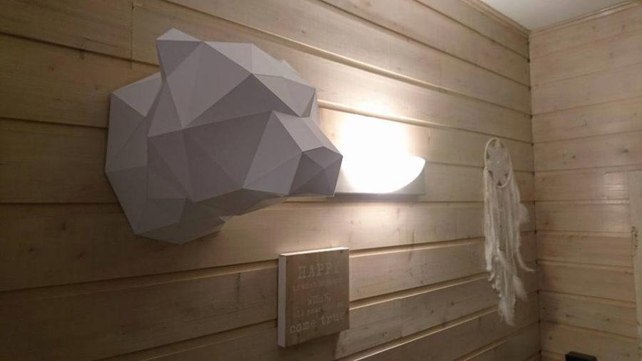 Papercraft trophée tête d'ours origami