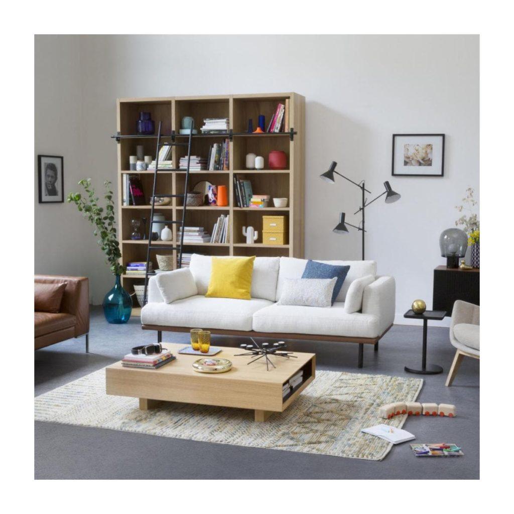 Bibliothèque Camus avec son échelle signée Habitat