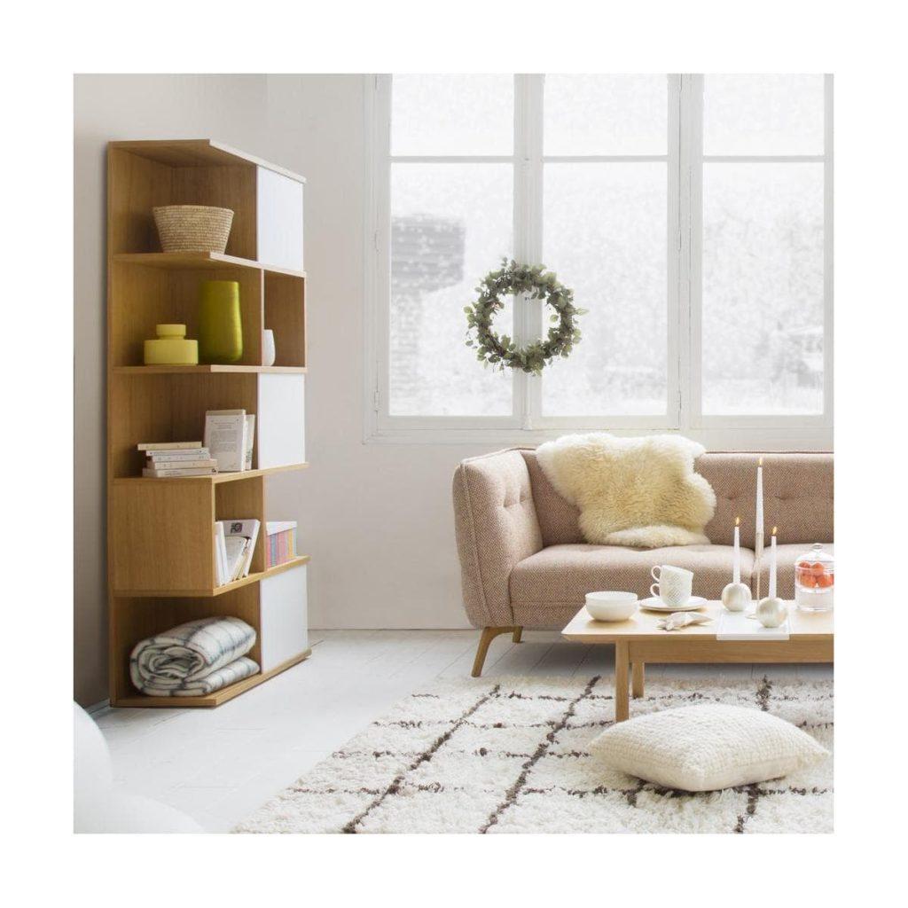 La bibliothèque Ivy, bois et blanc, chez Habitat
