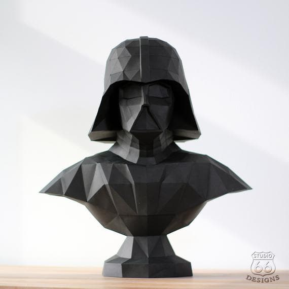 Papercraft buste Dark Vador origami
