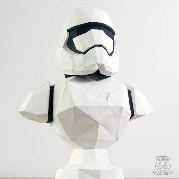 Papercraft buste Stormtrooper origami