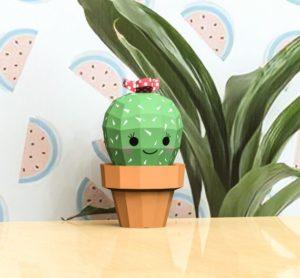 Papercraft petit cactus souriant Etsy Origami