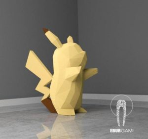 Papercraft Pikachu Etsy Origami