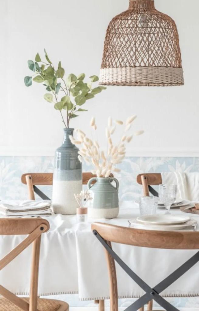 Vase bouteille en grès bleu gris - Maisons du Monde